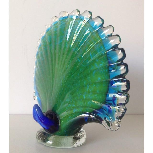 Italian Murano Handblown Peacock - Image 8 of 9