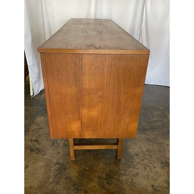 Brown 1960s Mid Century Modern Teak Credenza For Sale - Image 8 of 12