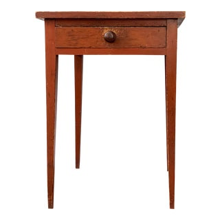 19th Century One-Drawer Stand in Red Wash For Sale