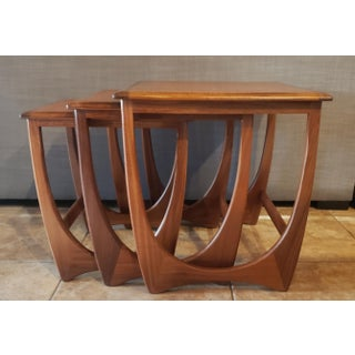 1960's Mid-Century Modern G Plan Astro Teak & Afromosia Nesting Tables - Set of 3 Preview