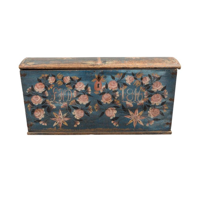 Gustavian Swedish Wedding Chest dated 1846 Wedding chest were a traditional gift to marrying couples in Sweden on their...
