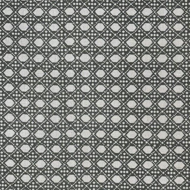 LuRu Home Wickerwork Fabric, Sample in Smoke For Sale - Image 4 of 4