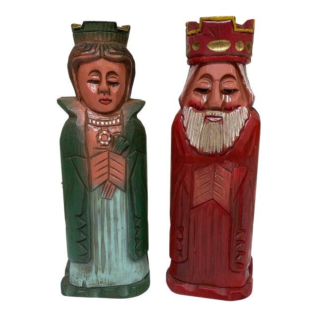 Mediterranean Style Carved Wood Wine Bottle Holders For Sale