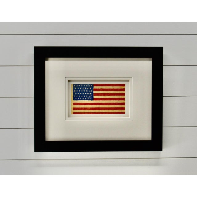 Antique Framed 45 Star American Flag, 1896 For Sale - Image 4 of 4
