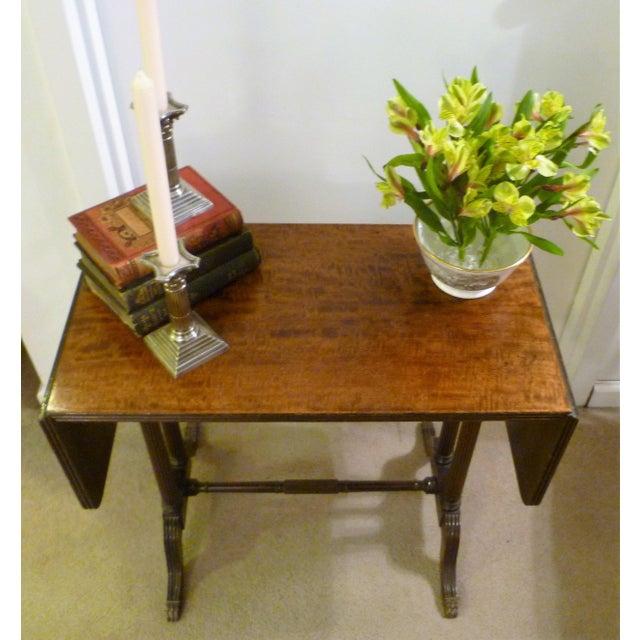 Vintage John Wanamaker NY Regency Style Burl Walnut Coffee Table For Sale In New York - Image 6 of 8