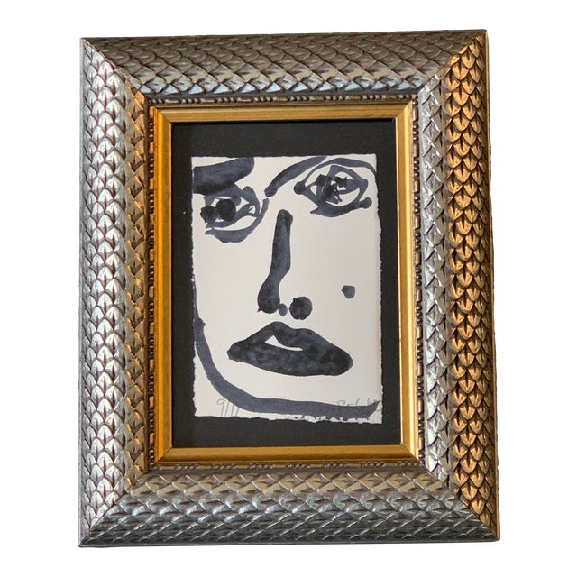 Original Abstract Face Painting by Robert Cooke For Sale