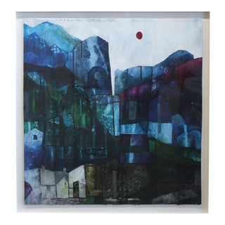"Maria C Bernhardsson ""Indigo Canyon"" Original Painting For Sale"