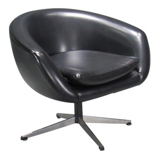 Overman Black Swivel Pod Chair For Sale