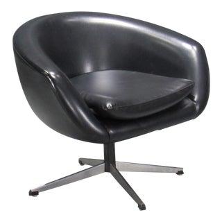 Overman Black Swivel Pod Chair For Sale