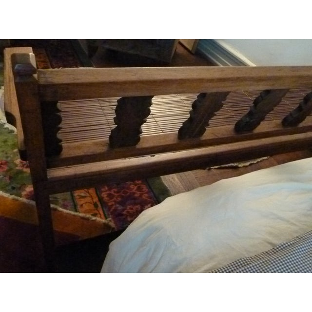 Reclaimed Tucker Robbins Exotic Wood Bench - Image 5 of 10