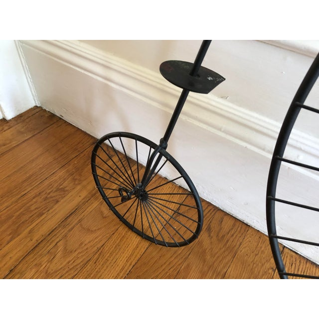 1980s Curtis Jere Bicycle 'Highwheeler' Signed Table / Wall Sculpture For Sale - Image 9 of 13