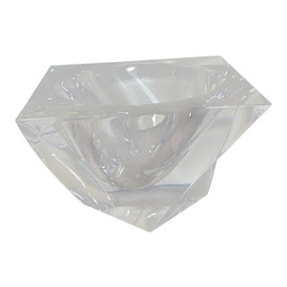 Orrefors Jan Johansson Tornado Clear Crystal Bowl, Signed For Sale
