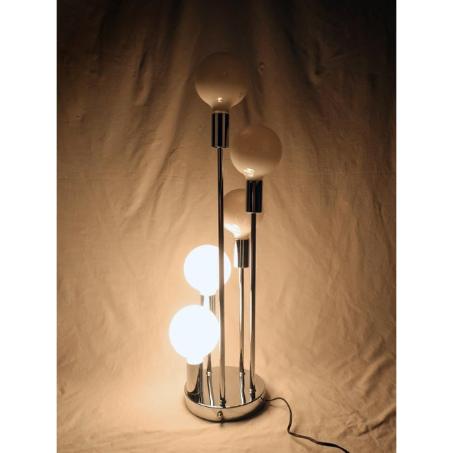Chrome Spiral Five Globe Table Lamp For Sale - Image 7 of 9