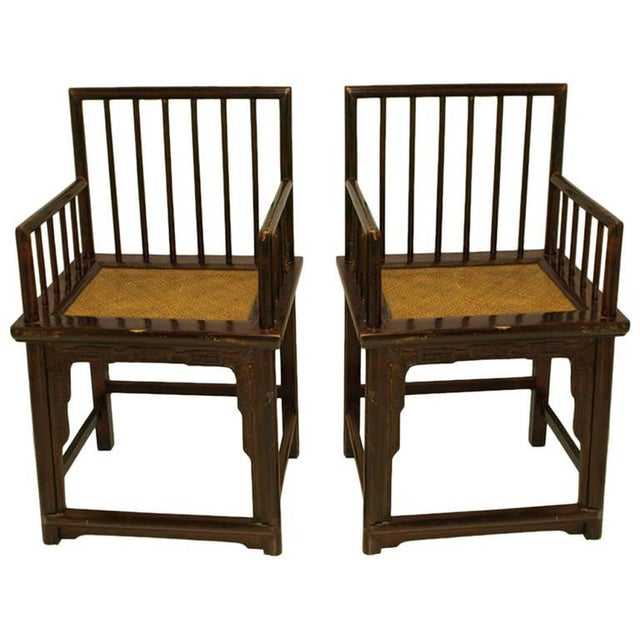 Chinese Huanghuali Style Chairs - Pair - Image 1 of 4