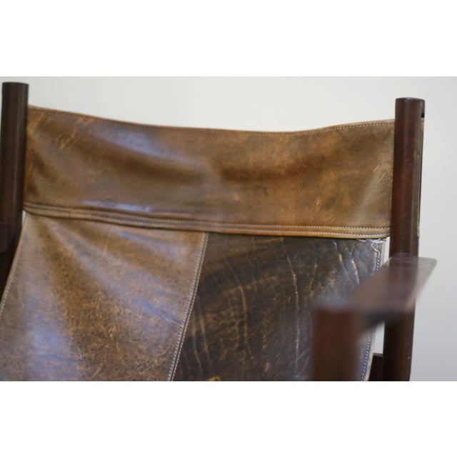 Animal Skin Michel Arnoult Leather Sling Chair For Sale - Image 7 of 9
