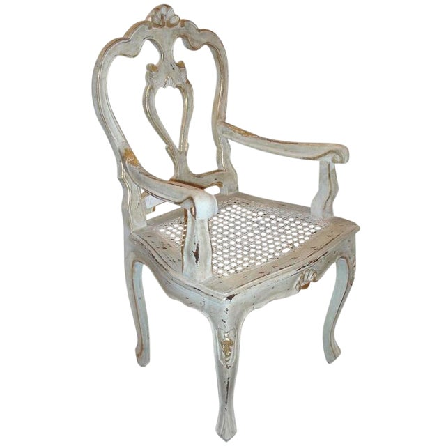 Louis XV Style Gilt Decorated Arm Chair - Image 1 of 9