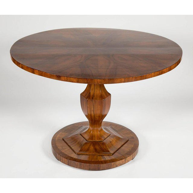 Brown Fine Biedermeier Figured Walnut Centre Table For Sale - Image 8 of 8