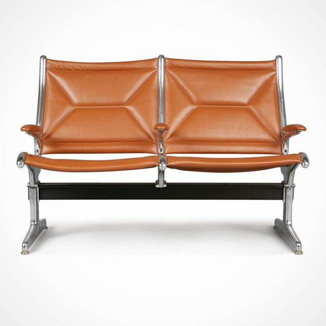 1960s Edelman Leather Two-Seat Tandem Sling by Charles Eames for Herman Miller For Sale - Image 5 of 11