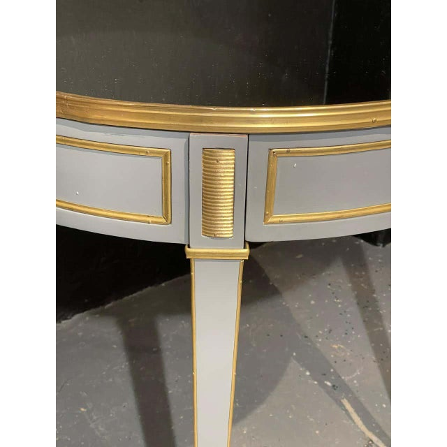 Hollywood Regency Vintage Jansen Style Painted End or Lamp Tables, Bouilliote Form - a Pair For Sale - Image 3 of 8