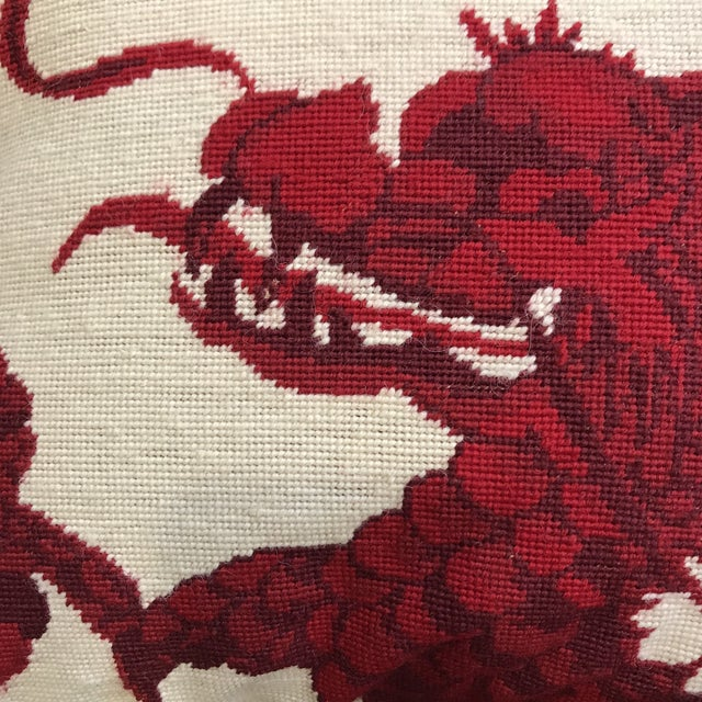 Williams Sonoma Dragon Needlepoint Pillow - Image 3 of 6