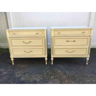 1970's Vintage Thomasville Nightstands-a Pair Preview