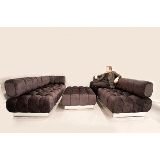Gold 2015 USA Todd Merrill Custom Original The Extended Back Tufted Sectional For Sale - Image 8 of 11