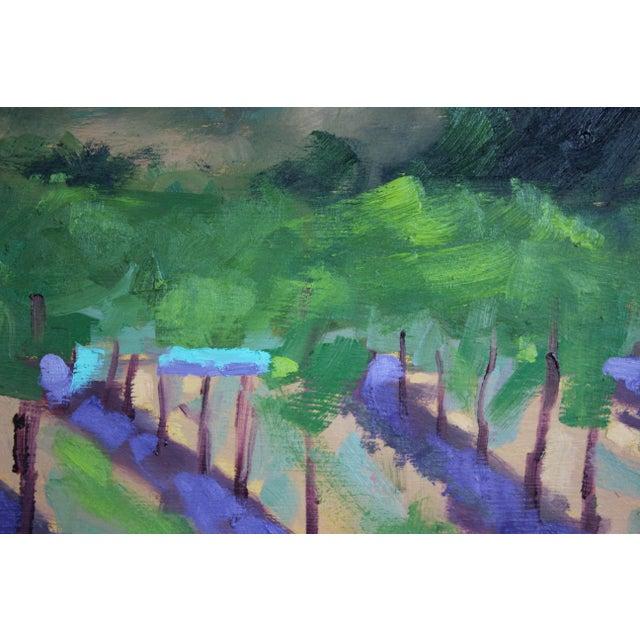Original Oil Painting Landscape Plein Air, Sonoma Vines For Sale In San Francisco - Image 6 of 12