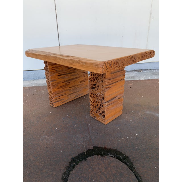 Studio Craft Pecky Cypress Table For Sale - Image 11 of 11