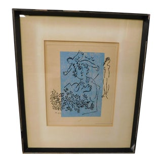 """Marc Chagall Untitled Print """"GRAVURE ORIGINALE DE CHAGALL"""" Signed in the Plate For Sale"""