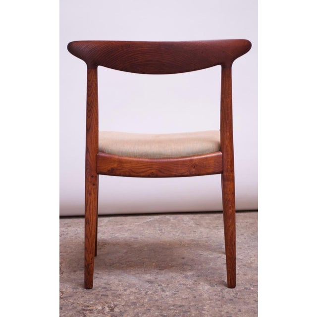 Wood Set of Six Hans Wegner W2 Dining Chairs for CM Madsen in Oak For Sale - Image 7 of 13