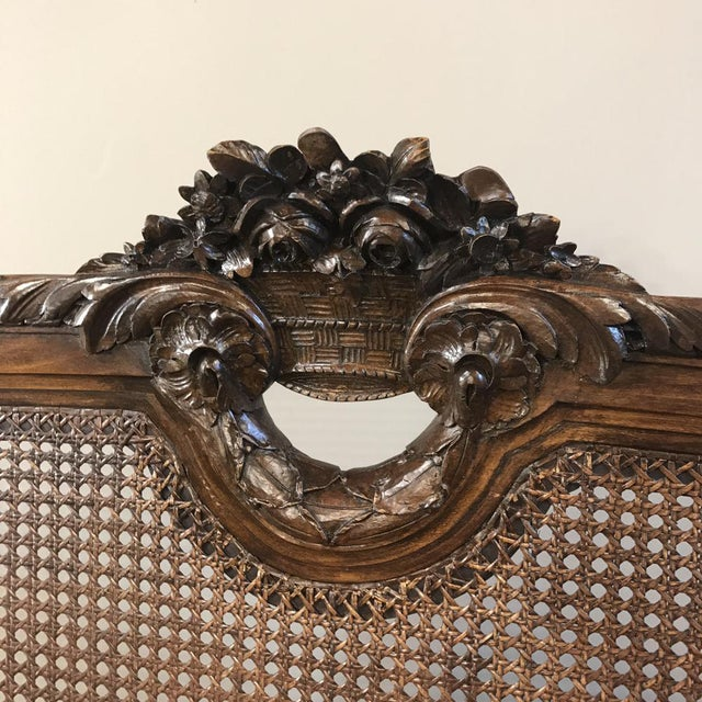 19th Century French Walnut Louis XVI Neoclassical Bed Ca. 1870 For Sale - Image 4 of 10