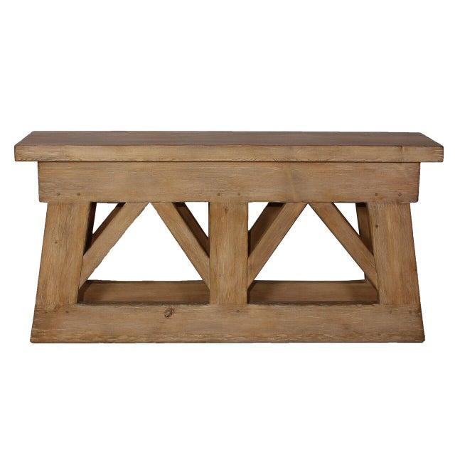 Sarreid LTD Rustic Bridge Console Table - Image 2 of 3