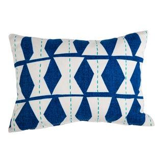 Blue Diamond Pillow For Sale