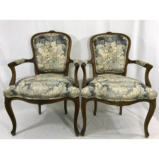 Louis XV Style Arm Chair For Sale - Image 6 of 6
