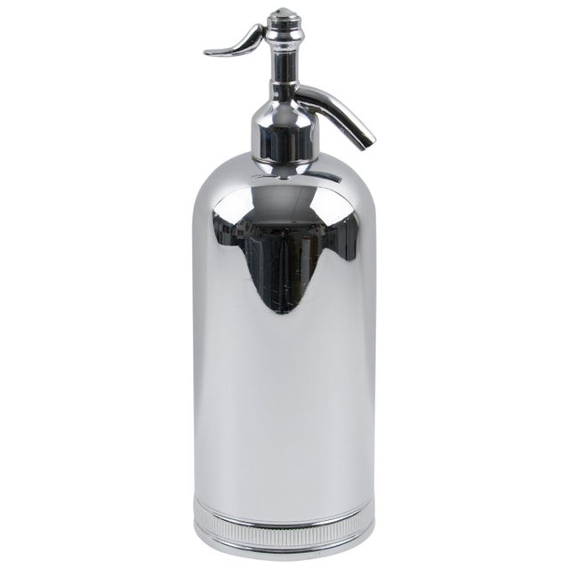 Chrome 1950s French Soda Siphon Seltzer Water Bottle For Sale - Image 8 of 8