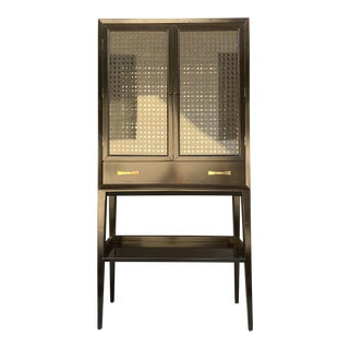 Kate Spade Lacquered Mirrored Bar Hutch For Sale