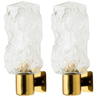 Pair of Mid-Century Modern Brutalist Sconces by Kalmar