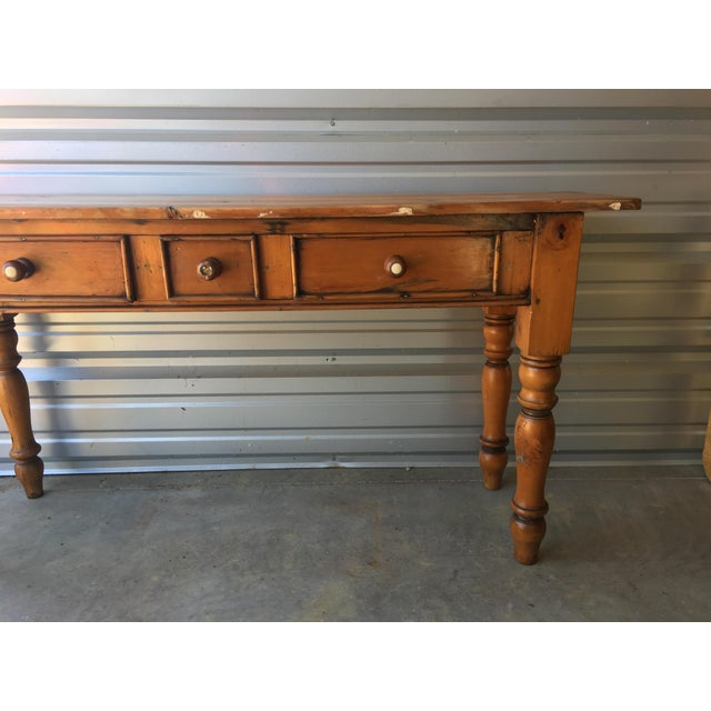 Rustic Handmade Console Table - Image 5 of 11