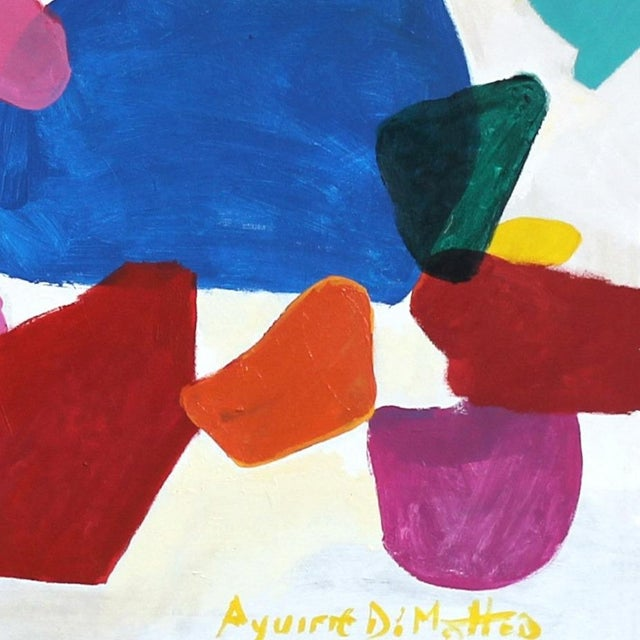 "2010s Leonardo Aguirre ""2 Full Colors"" Original Painting For Sale - Image 5 of 8"