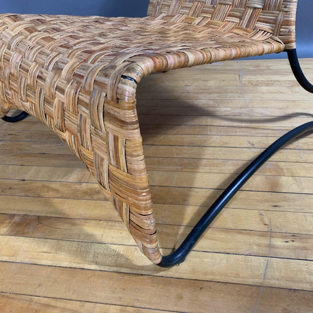 Unclear as to origin, though purchased in Sweden - this later 20th century lounge chair is made in woven cane over...