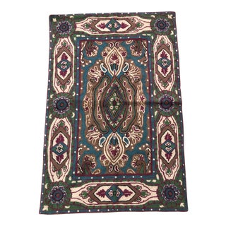 Crewel Embroidered Bohemian Rug - 2' X 3'
