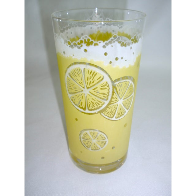 Fred Press Fred Press Mid-Century Yellow Lemonade Glasses- Set of 5 For Sale - Image 4 of 5