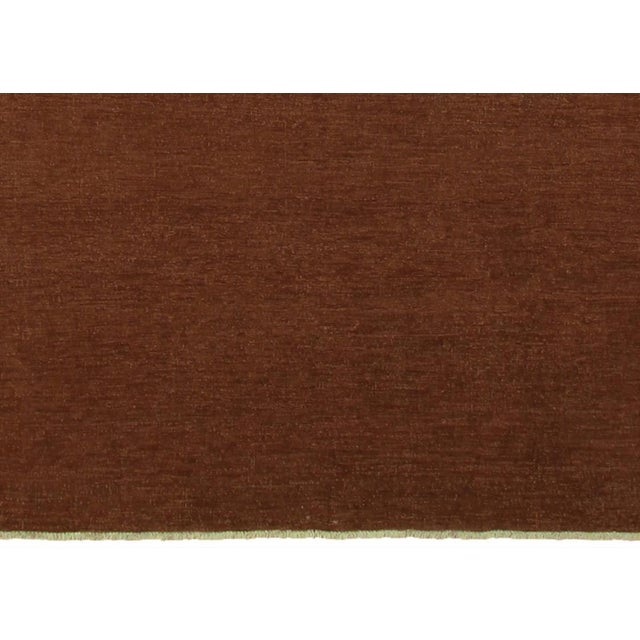 """Contemporary Over Dyed Color Reform Cordelia Brown Wool Rug - 9'0"""" x 11'10"""" For Sale - Image 3 of 8"""