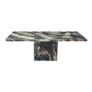 1970s PostModern Italian Marble Granite Rectangular Dining Table For Sale