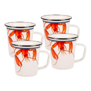 Latte Mugs Lobster - Set of 4 For Sale