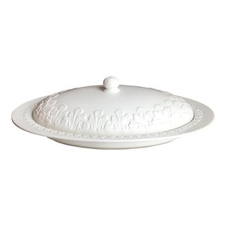 Large Italian White Covered Buffet Serving Platter