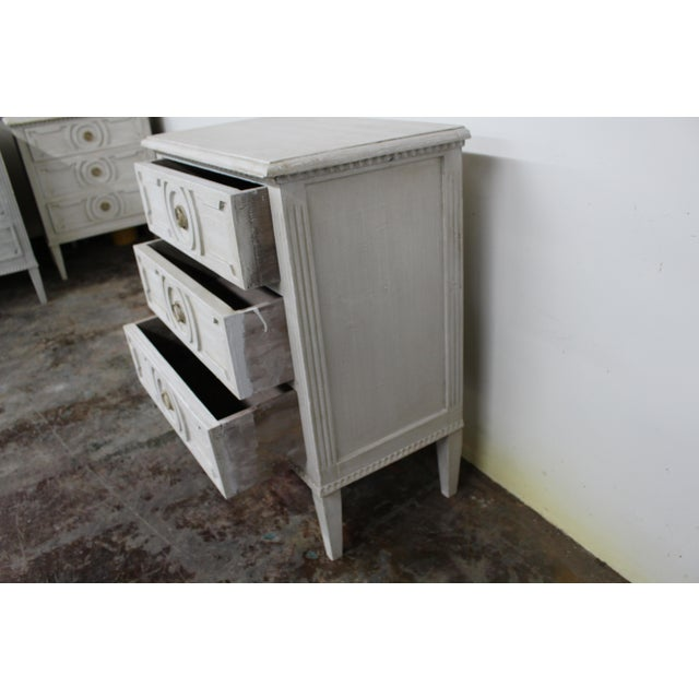 Mid-Century Modern 20th Century Vintage Swedish Gustavian Style Nightstands-A Pair For Sale - Image 3 of 10