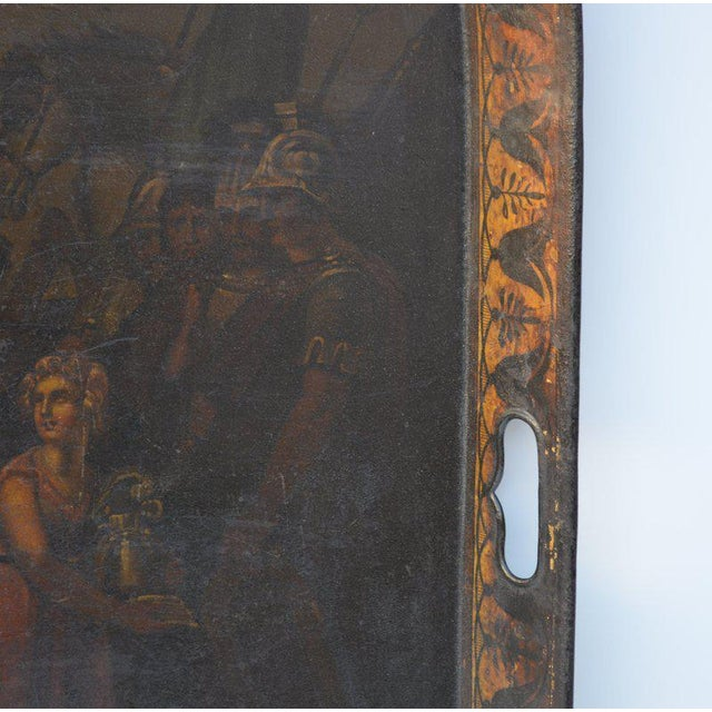 English English Painted Tole Tray, Circa 1840-60 For Sale - Image 3 of 4