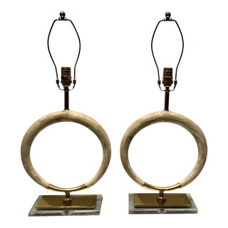 Modern Regina Andrews Mosaic Bone Hole Lamps - a Pair For Sale