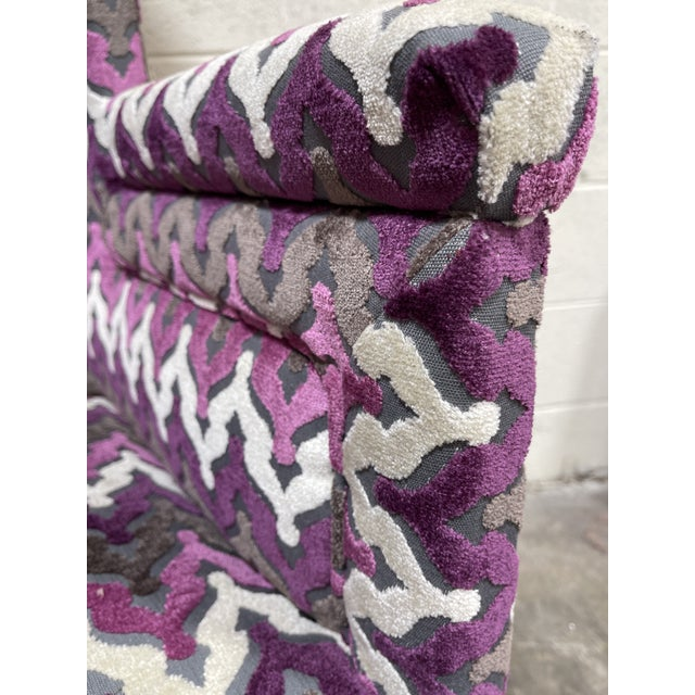 1950s Stylish Newly Reupholsterd Wing Back Chair For Sale - Image 5 of 7